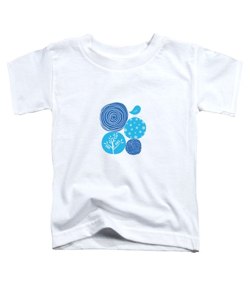 Abstract Nature Blue Toddler T-Shirt