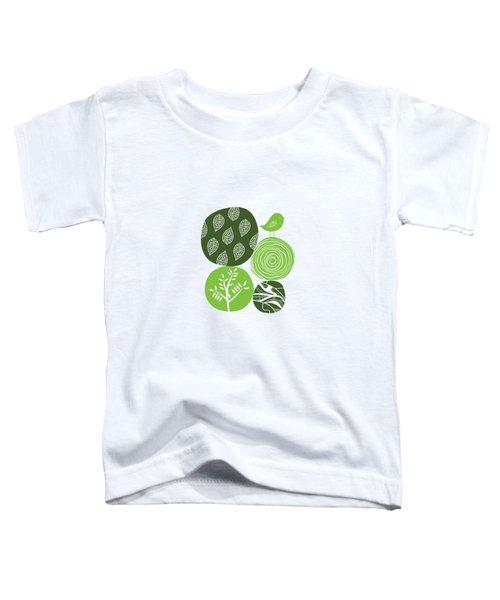 Abstract Nature Green Toddler T-Shirt