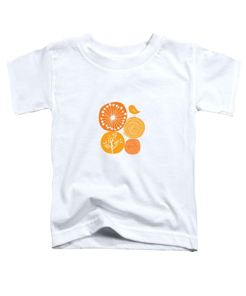 Abstract Nature Orange Toddler T-Shirt
