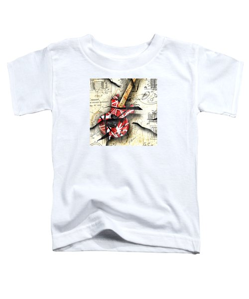 Abstracta 35 Eddie's Guitar Toddler T-Shirt by Gary Bodnar