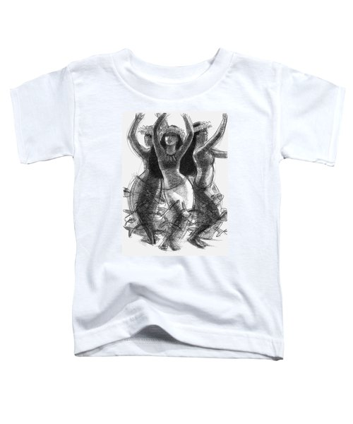 Action Song Dancers With Fish Pareu Toddler T-Shirt