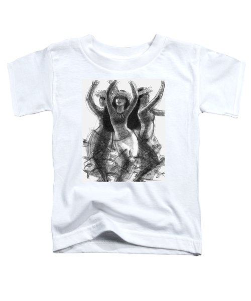 Action Song Dancers With Fish Pareu Toddler T-Shirt