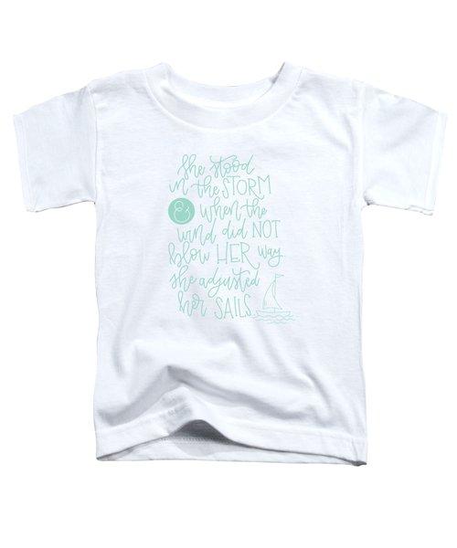 Adjusted Her Sails Toddler T-Shirt