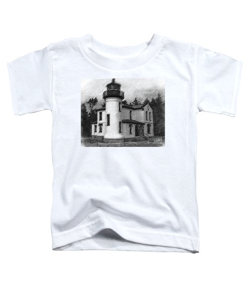 Admiralty Head Lighthouse Sketched Toddler T-Shirt