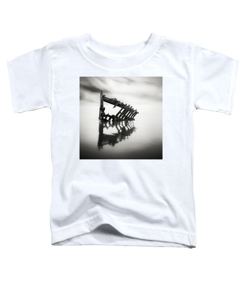 Adrift At Sea Monochromatic Square Toddler T-Shirt