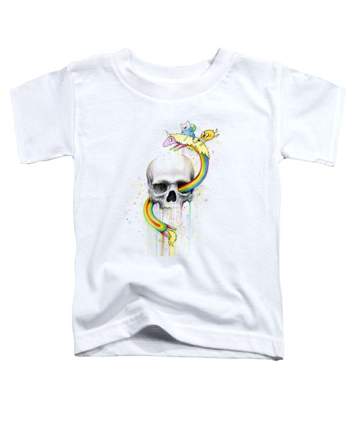 Adventure Time Skull Jake Finn Lady Rainicorn Watercolor Toddler T-Shirt