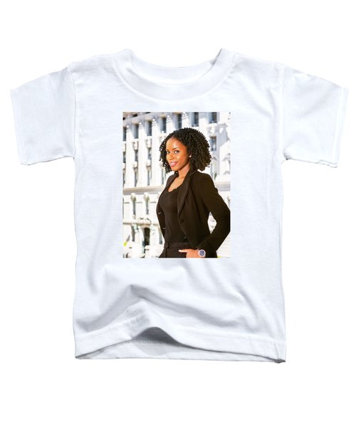 African American Businesswoman Working In New York Toddler T-Shirt