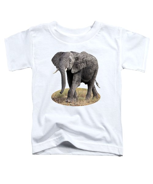 African Elephant Happy And Free Toddler T-Shirt