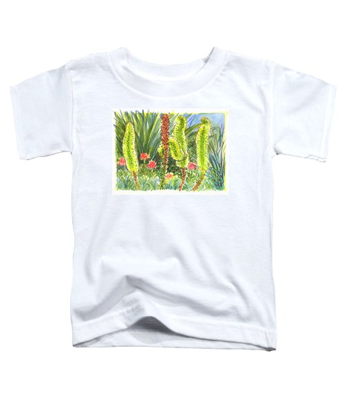 Toddler T-Shirt featuring the painting Agave In Bloom by Judith Kunzle