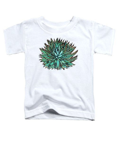Agave - Spikey Blue With Orange Edges Toddler T-Shirt
