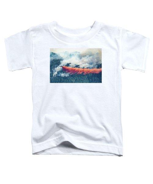 Air Tanker On Crow Peak Fire Toddler T-Shirt