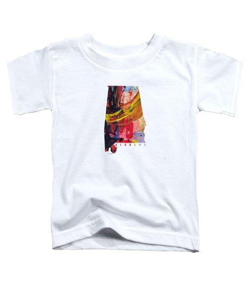 Alabama Map Art -painted Map Of Alabama Toddler T-Shirt