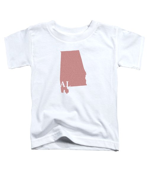 Alabama State Map With Text Of Constitution Toddler T-Shirt