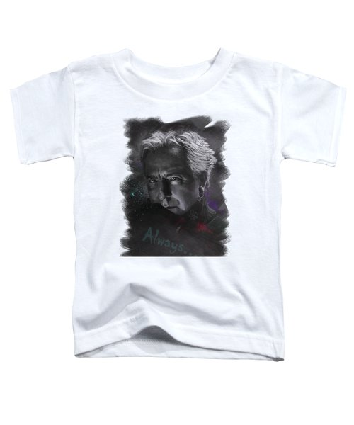 Toddler T-Shirt featuring the drawing Alan Rickman by Julia Art