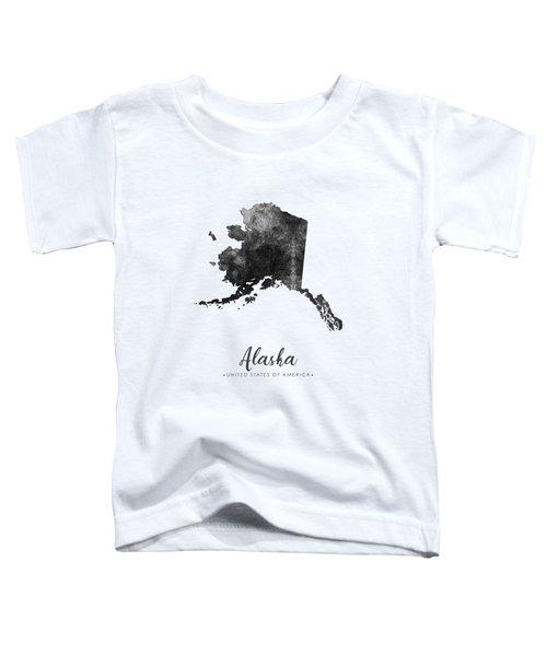 Alaska State Map Art - Grunge Silhouette Toddler T-Shirt