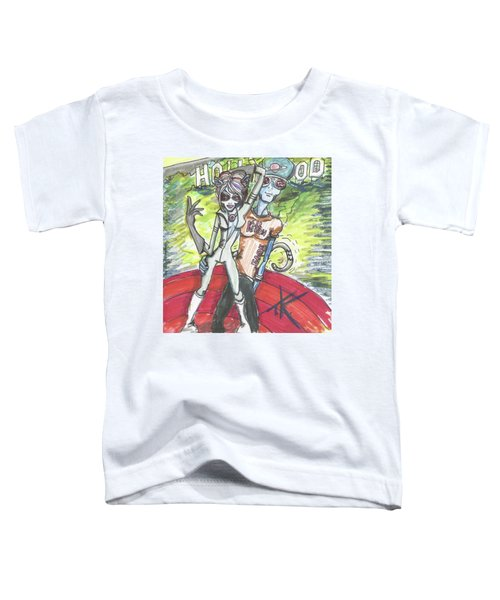 Alien Kitten Face Toddler T-Shirt