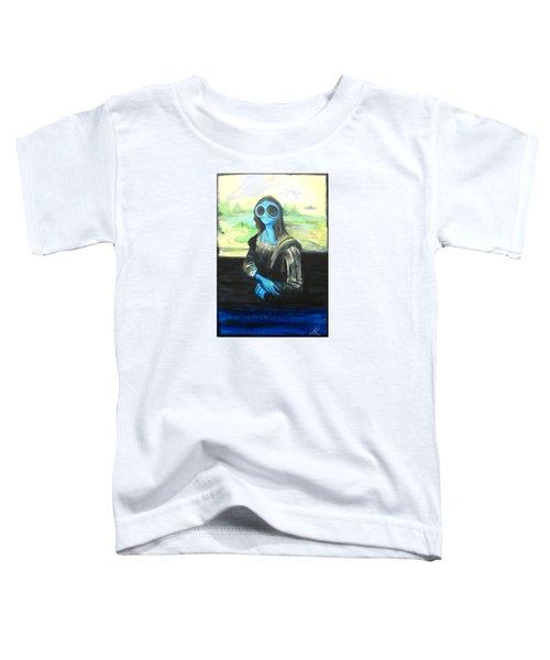 alien Mona Lisa Toddler T-Shirt