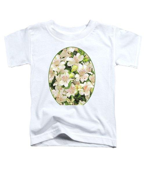 Alluring Alstroemeria - Peruvian Lilies Toddler T-Shirt by Gill Billington