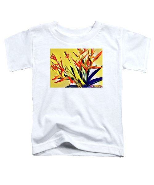 Aloha Bouquet Of The Day - Halyconia Birds In Orange Toddler T-Shirt