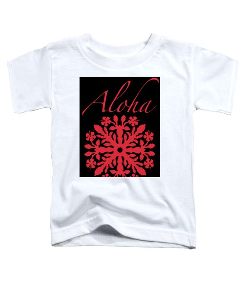 Aloha Red Hibiscus Quilt T-shirt Toddler T-Shirt