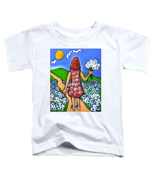 Toddler T-Shirt featuring the painting Along The New Path by Winsome Gunning