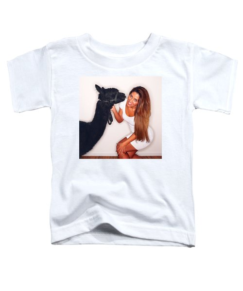 Alpaca Emily And Breanna Toddler T-Shirt by TC Morgan