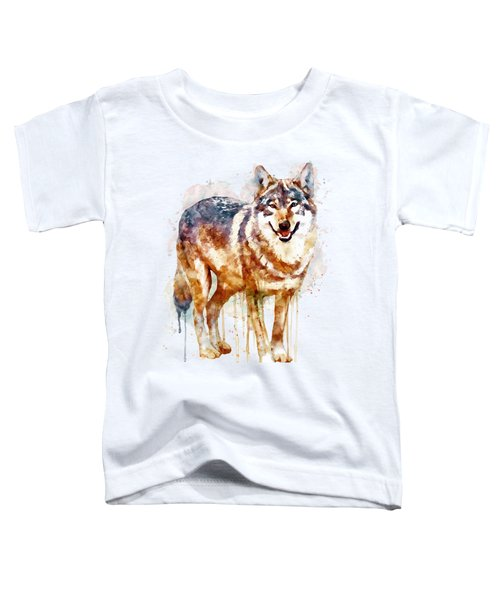 Alpha Wolf Toddler T-Shirt by Marian Voicu