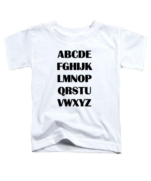 Alphabet T-shirt Toddler T-Shirt