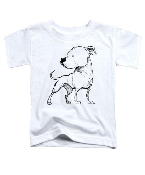 American Bulldog Gesture Sketch Toddler T-Shirt