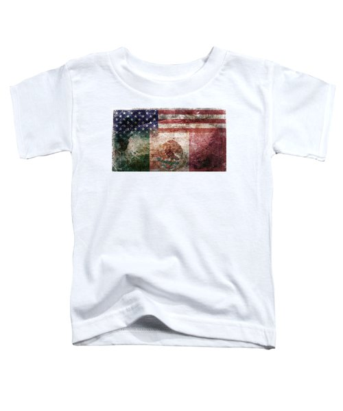 American Mexican Tattered Flag  Toddler T-Shirt