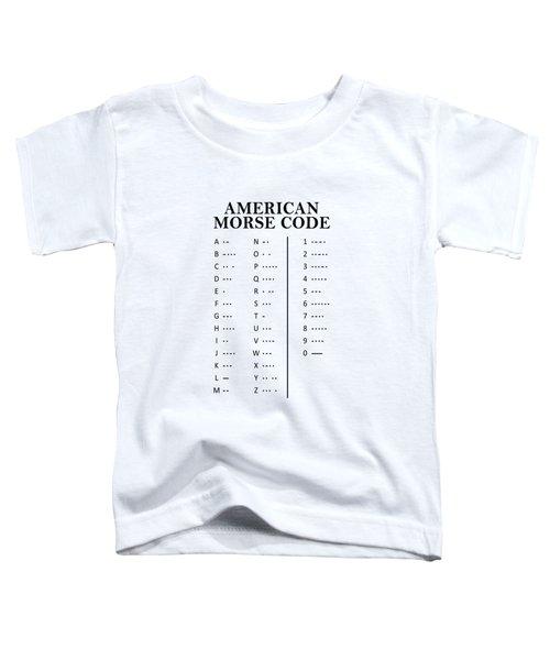 American Morse Code Toddler T-Shirt by Mark Rogan