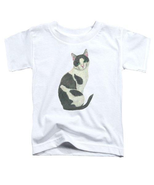 An Elegant Tuxedo Cat Toddler T-Shirt