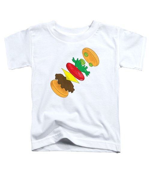 Anatomy Of Cheeseburger Toddler T-Shirt by Ben Shurts