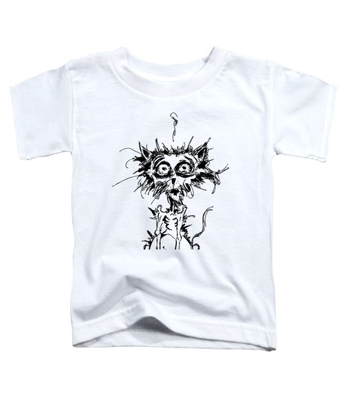 Angst Cat Toddler T-Shirt by Nicholas Ely
