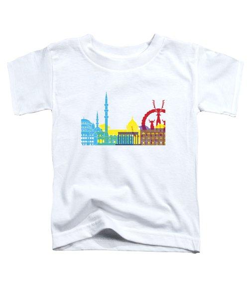 Ankara Skyline Pop Toddler T-Shirt by Pablo Romero