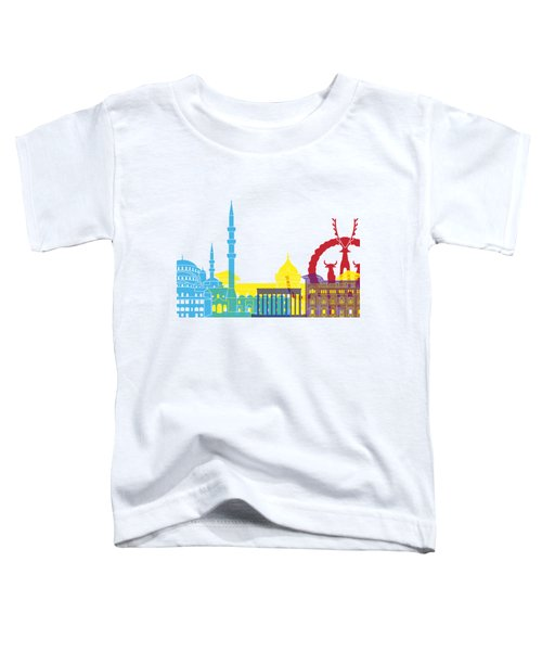 Ankara Skyline Pop Toddler T-Shirt
