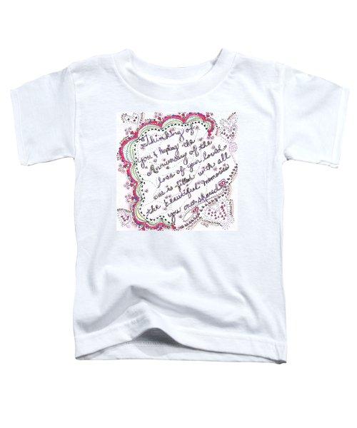 Anniversary Memorial Toddler T-Shirt