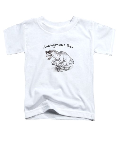 Toddler T-Shirt featuring the drawing Anonymous Rex T-shirt by Aaron Spong