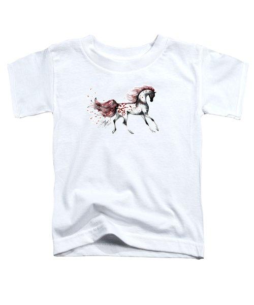 Appaloosa Rose Petals Horse Toddler T-Shirt