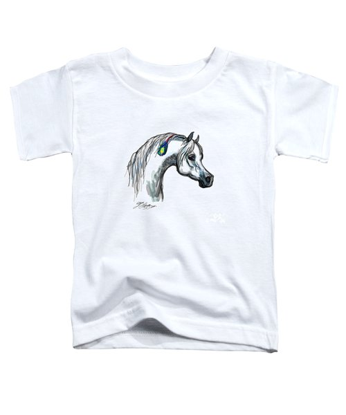 Arabian Peacock Feather Toddler T-Shirt