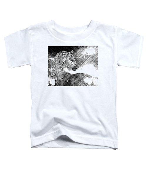 Arabian Sunrise Sketch Toddler T-Shirt