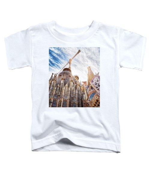 Architectural Details Of The Sagrada Familia In Barcelona Toddler T-Shirt