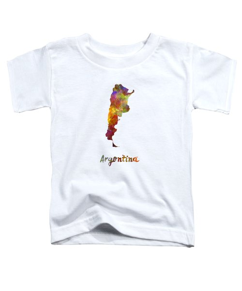 Argentina  In Watercolor Toddler T-Shirt