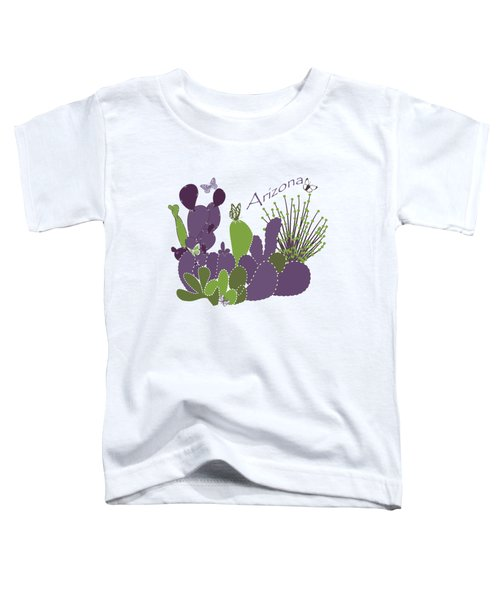 Arizona Cacti Toddler T-Shirt by Methune Hively