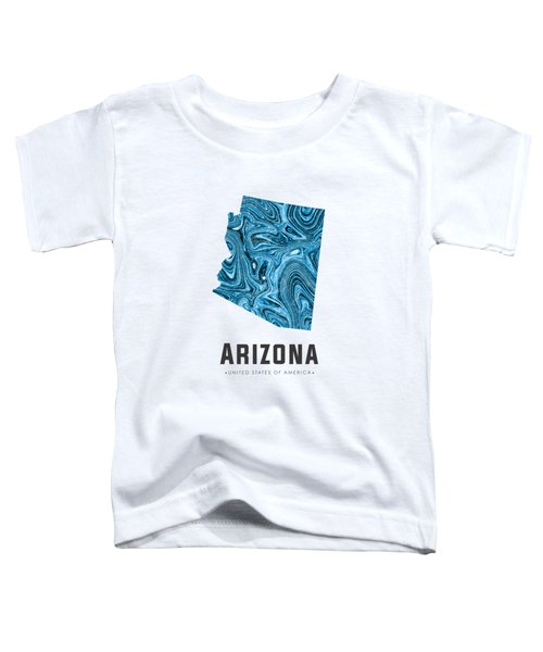 Arizona Map Art Abstract In Blue Toddler T-Shirt