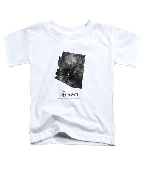 Arizona State Map Art - Grunge Silhouette Toddler T-Shirt