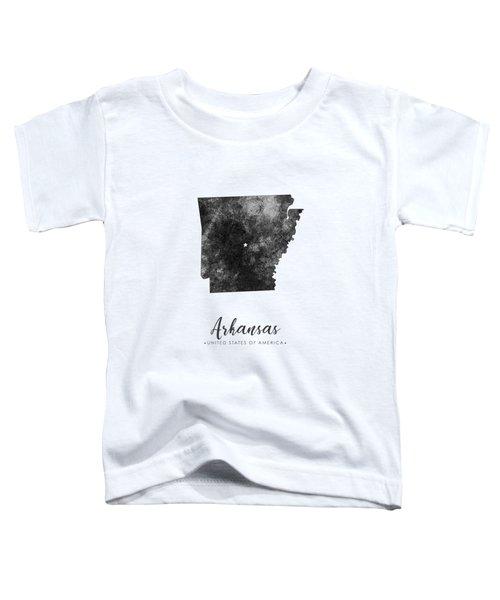 Arkansas State Map Art - Grunge Silhouette Toddler T-Shirt