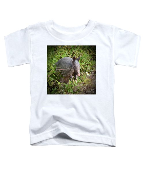 Armadillo And Flower Toddler T-Shirt