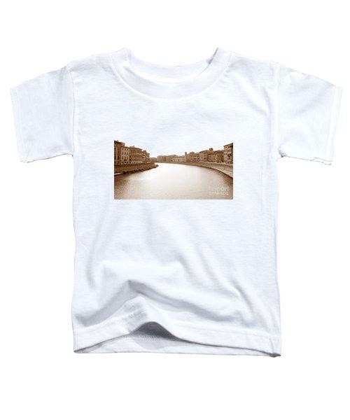Arno River In Pisa Toddler T-Shirt