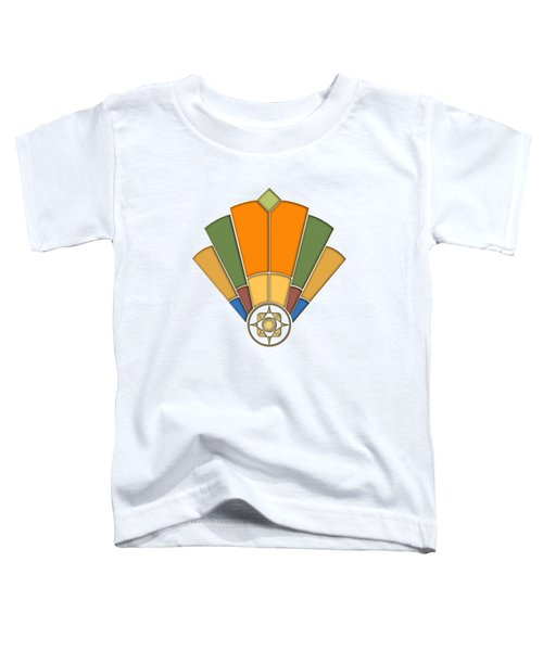 Art Deco Fan 8 Transparent Toddler T-Shirt